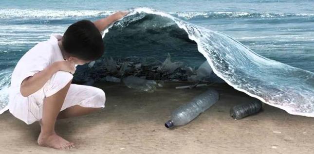 La basura en el mar