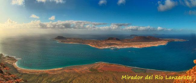 foto del mirador del rio en la isla de lanzarote